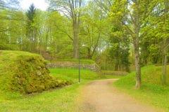 Ajardine no parque na fortaleza de Lappeenranta, Foto de Stock
