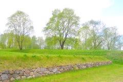 Ajardine no parque na fortaleza de Lappeenranta, Imagens de Stock