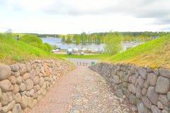 Ajardine no parque na fortaleza de Lappeenranta, Imagem de Stock Royalty Free