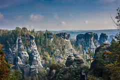 Ajardine no parque nacional do suisse saxonian Imagem de Stock