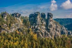 Ajardine no parque nacional do suisse saxonian Fotos de Stock