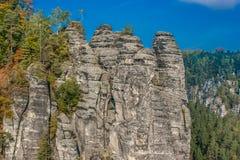 Ajardine no parque nacional do suisse saxonian Imagem de Stock Royalty Free