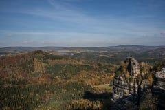 Ajardine no parque nacional do suisse saxonian Fotografia de Stock