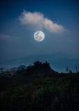 Ajardine no parque nacional, na floresta contra o céu e nas nuvens Fotos de Stock Royalty Free