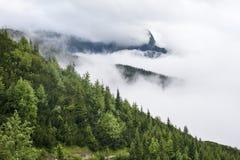 Ajardine no Polônia com as nuvens no vale Imagens de Stock