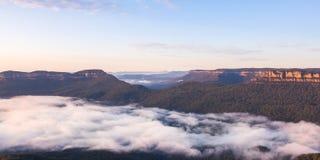 Ajardine no ponto do eco, parque nacional da montanha azul, Austrália Foto de Stock Royalty Free
