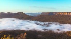 Ajardine no ponto do eco, parque nacional da montanha azul, Austrália Fotos de Stock