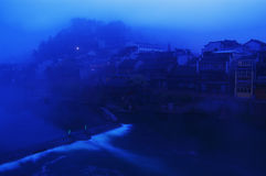 Ajardine no rio Fotografia de Stock