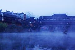 Ajardine no rio Foto de Stock Royalty Free