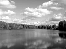 Ajardine no rio ao estilo de uma foto velha Fotos de Stock Royalty Free