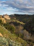 Ajardine no rio Tejo, Toledo, Espanha Fotos de Stock