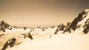 Ajardine nos cumes franceses - maciço de Mont Blanc Fotos de Stock
