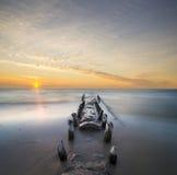 Ajardine o farol marinho na forma de um moinho de vento Fotos de Stock Royalty Free