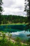 Ajardine o lago selvagem Misurina da natureza Imagem de Stock