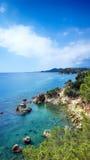 Ajardine o litoral Lloret de Mar, Costa Brava, Catalonia, Espanha Fotografia de Stock