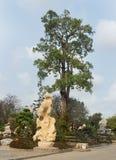 Ajardine o projeto em milhão anos de parque de pedra em Pattaya, Tailândia Fotos de Stock