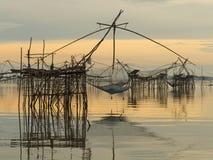 Ajardine o tempo do nascer do sol da prefeitura do phattalung, Tailândia Foto de Stock Royalty Free