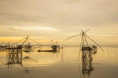 Ajardine o tempo do nascer do sol da prefeitura do phattalung, Tailândia Imagem de Stock Royalty Free