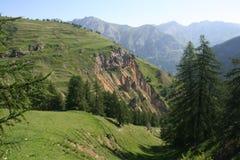 Ajardine perto de Ferrere, 1.869 m, na municipalidade de Argentera, os cumes marítimos (28 de julho de 2013) Imagem de Stock Royalty Free