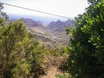 Ajardine Tenerife, vista de Anaga ao mar Imagens de Stock