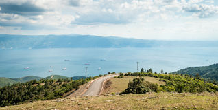 Ajardine a vista ao mar de Marmara em Turquia Fotografia de Stock Royalty Free