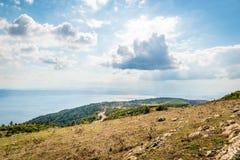 Ajardine a vista ao mar de Marmara em Turquia Foto de Stock