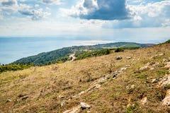 Ajardine a vista ao mar de Marmara em Turquia Fotografia de Stock