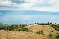 Ajardine a vista ao mar de Marmara em Turquia Imagens de Stock