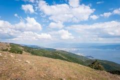 Ajardine a vista ao mar de Marmara em Turquia Imagem de Stock