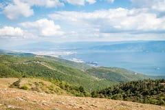 Ajardine a vista ao mar de Marmara em Turquia Imagem de Stock Royalty Free