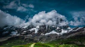 Ajardine a vista da cara sul do Matterhorn Imagens de Stock