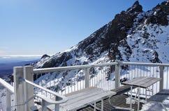 Ajardine a vista da parte superior da montagem Ruapehu na nação de Tongariro Fotografia de Stock Royalty Free