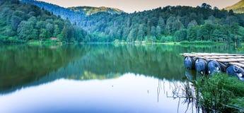 Ajardine a vista de Karagol (lago preto) em Savsat, Artvin, Turquia Fotografia de Stock Royalty Free