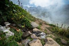 Ajardine a vista de montanhas de Kackar em Rize, Turquia Fotografia de Stock