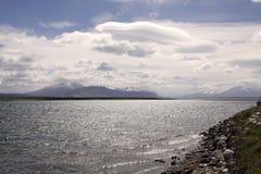 Ajardine a vista de Puerto Natales no Patagonia, o Chile Fotografia de Stock Royalty Free