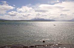 Ajardine a vista de Puerto Natales no Patagonia, o Chile Fotos de Stock Royalty Free