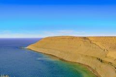 Ajardine a vista de Punta del Marquez Ponto de vista, Chubut, Argenti Imagem de Stock
