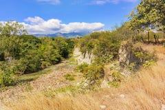 Ajardine a vista no rio chamado Rio Guangololo perto de Humuya dentro Fotografia de Stock