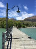 Ajardine a vista sobre o lago Glenorchy na ilha sul, Nova Zelândia Imagens de Stock