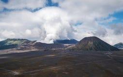 Ajardine, vulcão de Bromo da montagem, Java, Indonésia Fotografia de Stock Royalty Free