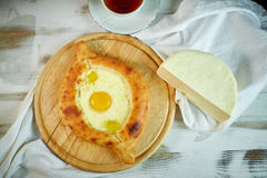 Ajarian traditional flatbread - khachapuri or hachapuri Royalty Free Stock Photo