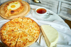 Ajarian traditional flatbread - khachapuri or hachapuri Royalty Free Stock Photography