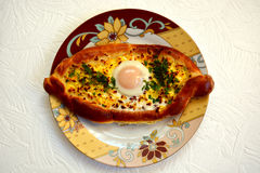 Ajaruli khachapuri Stock Photo