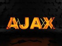 Ajax - asynchroniczny javascript i XML royalty ilustracja
