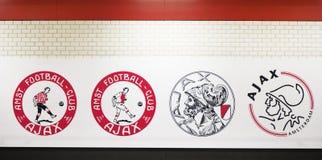 Ajax Emblem History Foto de archivo