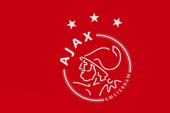 Ajax Football Club Emblem Royaltyfria Bilder