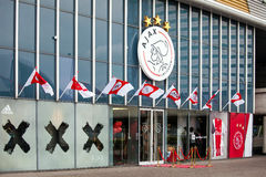 Ajax fotball club shop on Amsterdam Arena, Netherlands Royalty Free Stock Photography