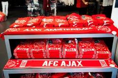 Ajax fotball club shop interior on Amsterdam Arena, Netherlands Stock Images