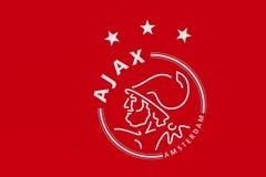 Ajax futbolu klubu emblemat Obrazy Royalty Free