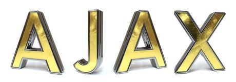 Ajax till guld- text stock illustrationer
